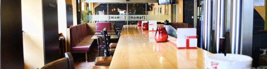 Mampf Restaurant von der Bar aus